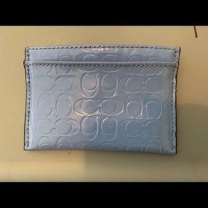 Blue Coach Card Wallet